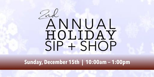 Free Yoga, Meditation and 2nd Annual Holiday Sip + Shop