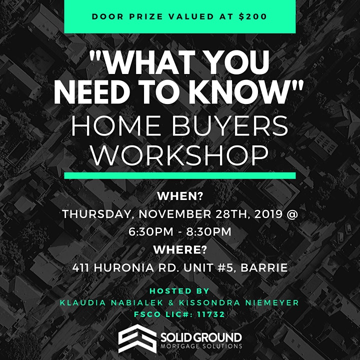 """""""What You Need To Know"""" Home Buyers Workshop image"""