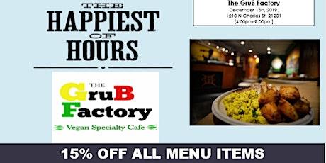 IBA Happy Hour: The GruB Factory tickets