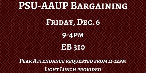 PSU-AAUP Bargaining - December 6