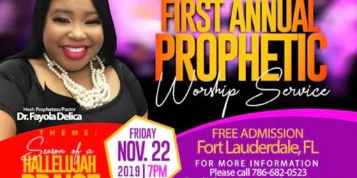 First Annual Prophetic Worship Service