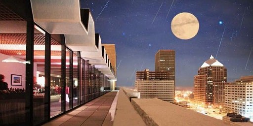 Rooftop Holiday Party During the Full Moon & Most Prolific Meteor Shower of the Year