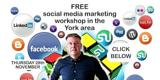 Social media marketing workshop Thursday 28th November 2pm-4pm