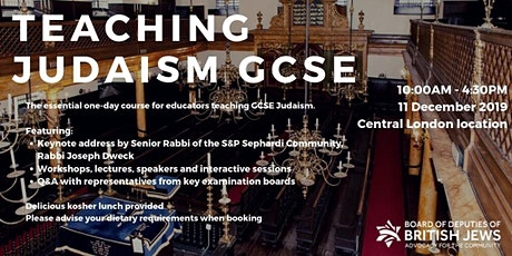Teaching Judaism GCSE - The Definitive Conference   tickets