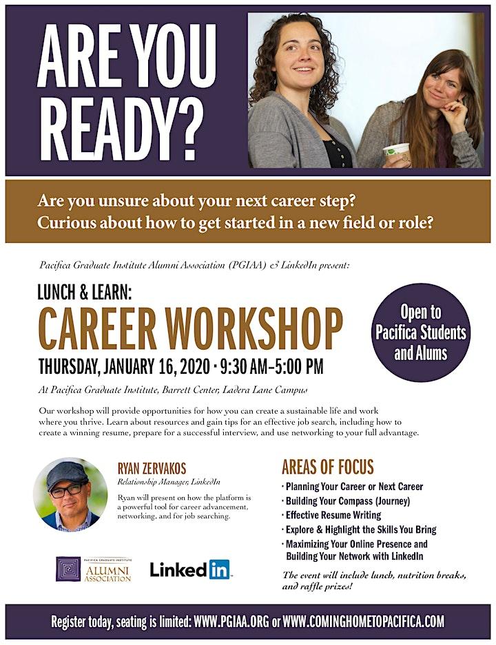 PGIAA & Linked In presents Lunch & Learn: Career Workshop image