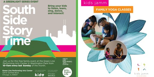 South Side Story Time + kids jamm Family Yoga: Family Fun on the Arts Block