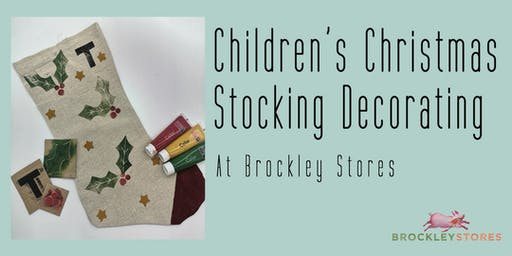 Children's Christmas Stocking Decorating at Brockley Stores