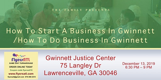 How To Start A Business In Gwinnett/How To Do Business In Gwinnett