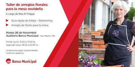 Taller de ARREGLOS FLORALES para la MESA NAVIDEÑA entradas