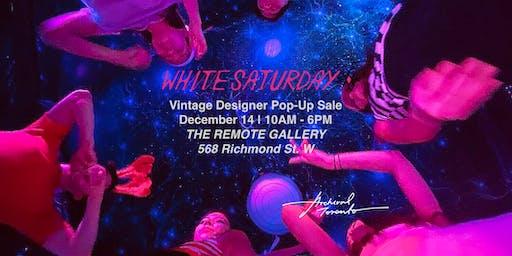 WHITE SATURDAY 2019: Vintage/Archival Designer Pop-up Sale