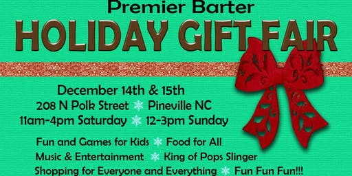 Premier Barter Holiday Barter Bash and Fair