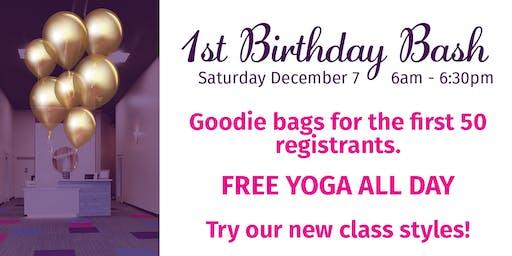 Tadasana.Yoga Lehi First Birthday Bash