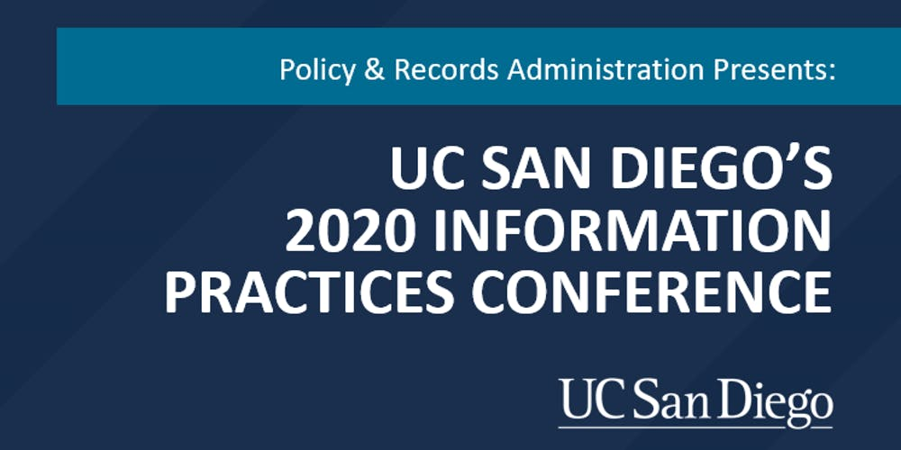 Ucsd Summer Session 2020.Uc San Diego S 2020 Information Practices Conference Tickets