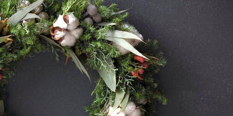 Create a Fresh Evergreen Holiday Wreath over Wine with New Friends tickets