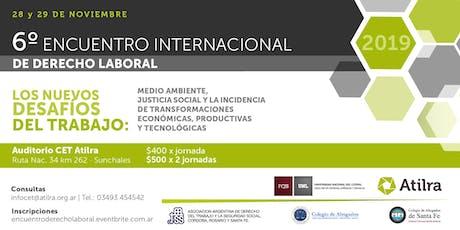6° Encuentro Internacional de Derecho Laboral entradas