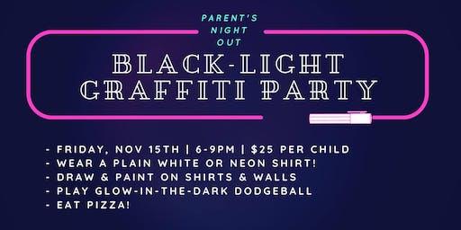 Parent's Night Out: Black-Light Graffiti Party!