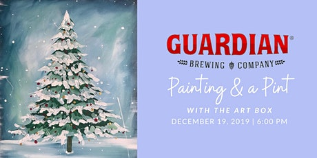 Painting and a Pint - Snowy Holiday Pine tickets