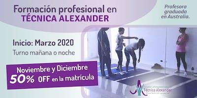 Formación profesional en Técnica Alexander