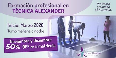 Formación profesional en Técnica Alexander entradas