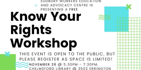 Know Your Rights Workshop tickets
