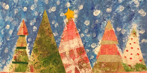 Gelli Print Fun: Holiday Card Collage