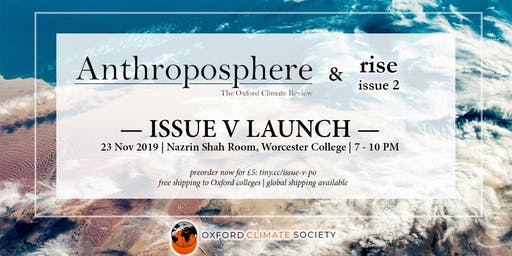 Anthroposphere & Oxford Climate Society Launch Party
