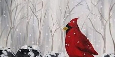 Cardinal On The Fence Painting