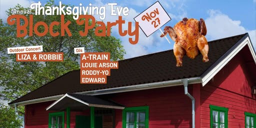 Bougie's Annual Thanksgiving Eve Block Party
