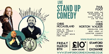 Live Stand up Comedy with Headliners Paul Foot and Chris McCausland tickets