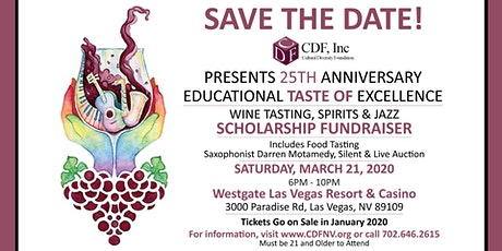 Wines of the World and Gourmet Food Tasting: CDF's 25th Scholarship Benefit tickets