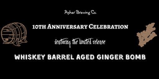 Whiskey Barrel Aged Ginger Bomb - 10th Anniversary Celebration