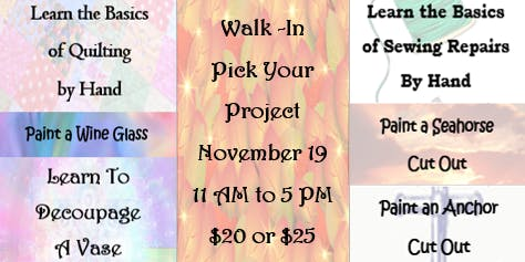 Walk-In: Pick Your Project