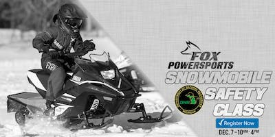 Snowmobile Safety Class – DNR Certified Instructor