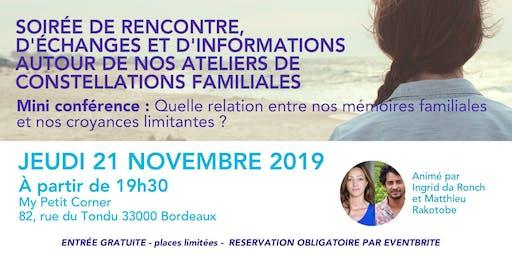 Ateliers de constellations familiales à Bordeaux, venez nous rencontrer !