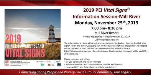2019 PEI Vital Signs Information Session-Mill River