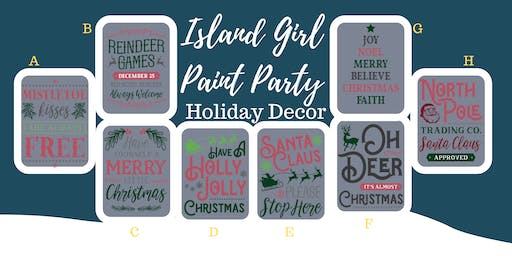 Island Girl Paint Party at Whitewall Brewery