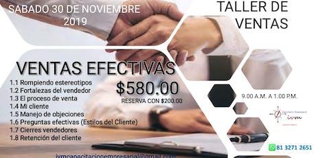Workshop Ventas Efectivas boletos