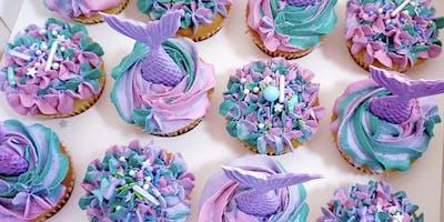 Mermaid Themed Cupcake Decorating Class