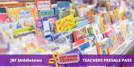 Teacher Presale pass | April 1st | JBF Middletown Spring 2020 | Mega Children's Sale event