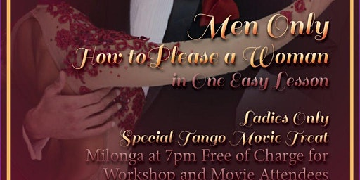 Men's Secrets ~ Argentine Tango Workshop