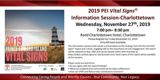 Vital Signs Information Session-Charlottetown