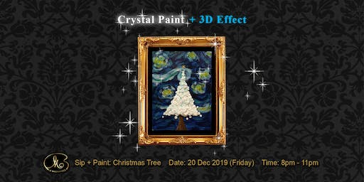Sip and Paint (Crystal Paint):  Christmas Tree