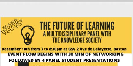 The Future of Learning: A Multidisciplinary Panel with The Knowledge Society tickets