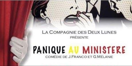"""Pièce de théâtre """"Panique au Ministère """" par la compagnie des deux lunes billets"""