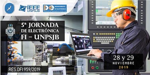 5ta Jornada de Electrónica - Facultad Ingeniería -