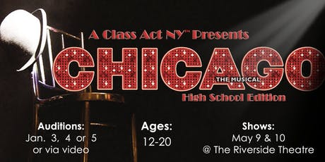 AUDITIONS for CHICAGO Main-Stage Off-Broadway Production tickets