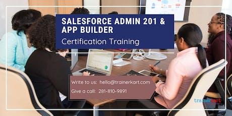 Salesforce Admin 201 and App Builder Certification Training in Saint-Eustache, PE billets