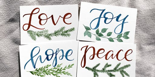 Brews & Brushstrokes: Holiday Watercolor Calligraphy with Sara Koert