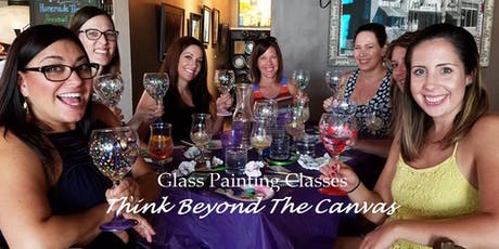 New Class! Join us for our Wine Glass Painting Party Workshop at Memorial Wine Cellar  on 11/30 @ 2:00pm tickets