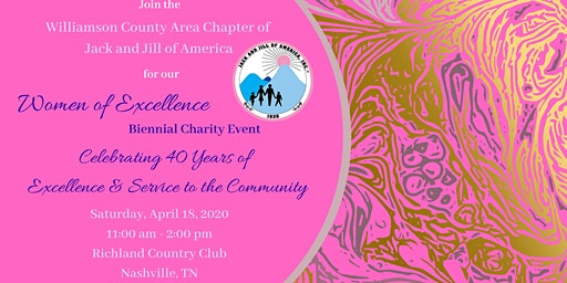Jack and Jill WCAC - Women of Excellence Biennial Charity Event